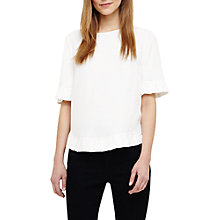 Buy Phase Eight Nevaeh Pleat Blouse, Ivory Online at johnlewis.com
