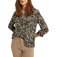 Buy Gerard Darel Chloe Silk Blouse, Green/Multi Online at johnlewis.com