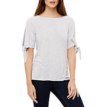 Buy Phase Eight Sinead Tie Sleeve Stripe Top, Cream Ivory/Black Online at johnlewis.com