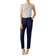 Buy Pure Collection Linen Slim Leg Cropped Trousers Online at johnlewis.com