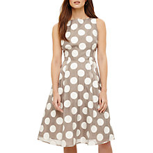 Buy Phase Eight Hayley Spot Dress, Praline/ Cream Online at johnlewis.com