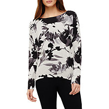 Buy Phase Eight Dawne Daisy Print Knit Top, Lunar Grey Online at johnlewis.com