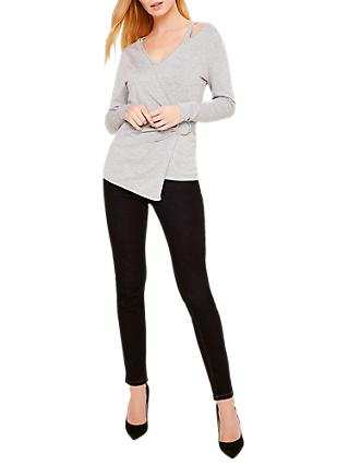 Damsel in a Dress Felix Metal Ring Jumper, Grey