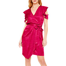 Buy Damsel in a Dress Lexi Leopard Jacquard Dress, Magenta Online at johnlewis.com