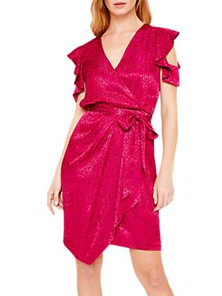 Damsel in a Dress Lexi Leopard Jacquard Dress, Magenta