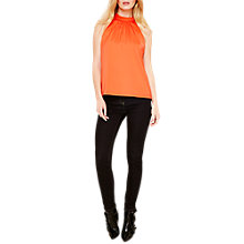 Buy Damsel in a Dress Verina Halterneck Blouse, Hot Orange Online at johnlewis.com