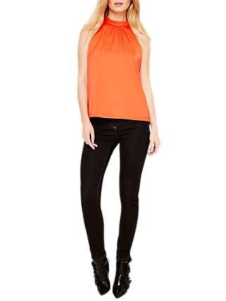 Damsel in a Dress Verina Halterneck Blouse, Hot Orange