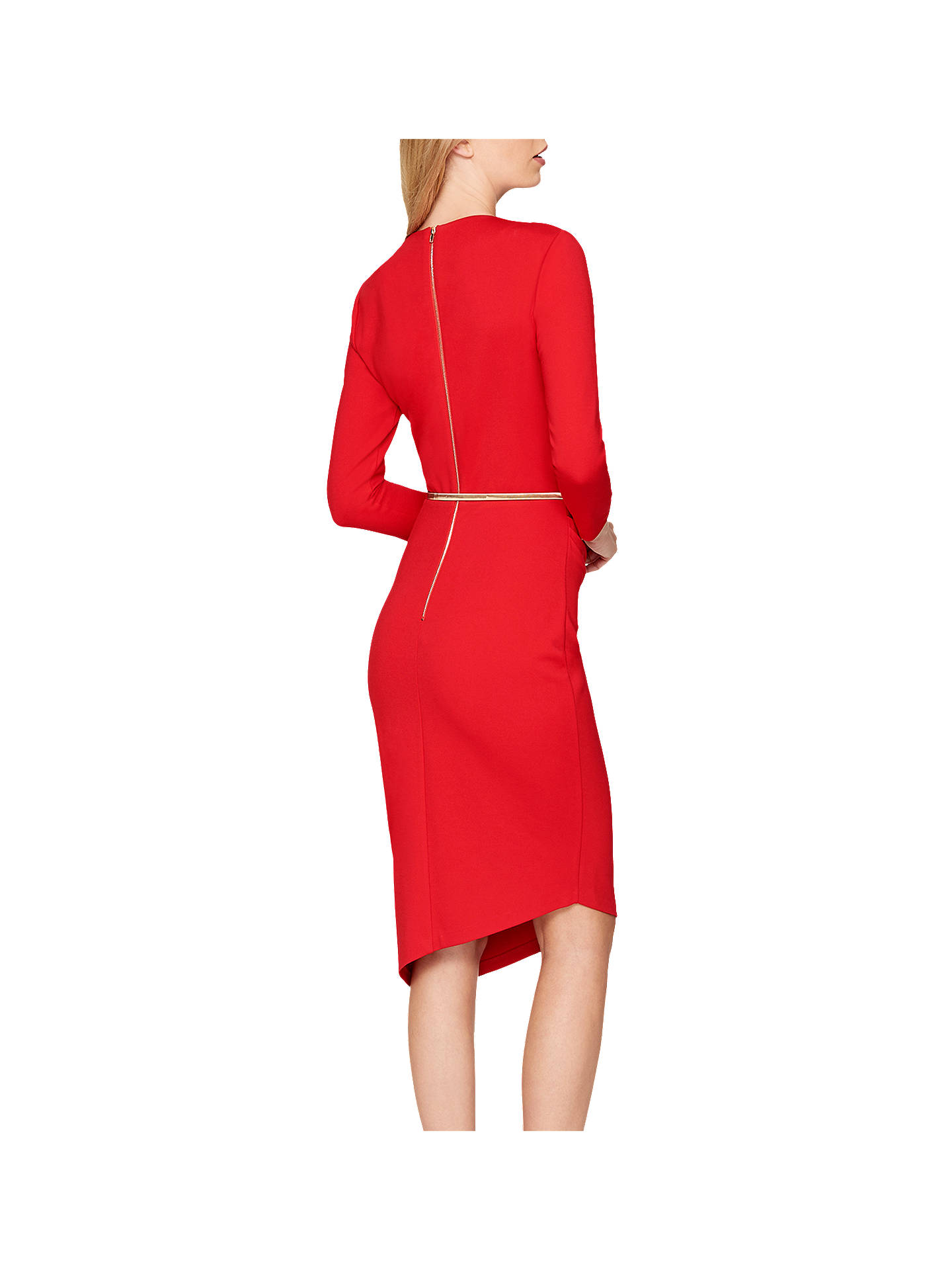 Buy Damsel in a Dress Blair Studded Ponte Dress, Red, 18 Online at johnlewis.com