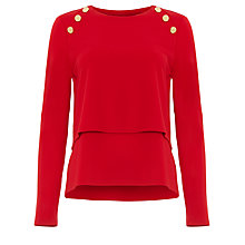 Buy Damsel in a Dress Marla Military Top Online at johnlewis.com