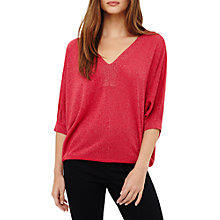 Buy Phase Eight Vittoria Shimmer V-Neck, Lipstick Online at johnlewis.com