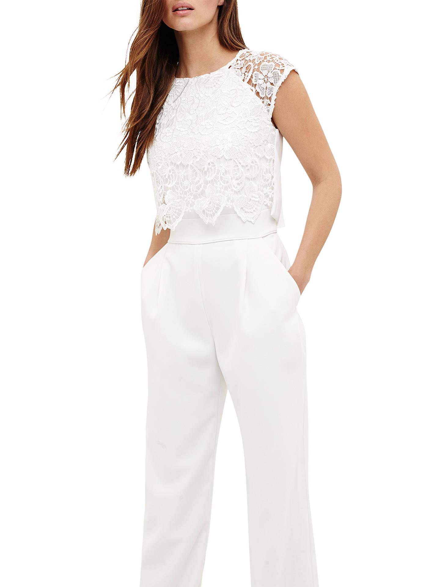 60c775d19 Buy Phase Eight Cortine Jumpsuit, Cream, 6 Online at johnlewis.com ...