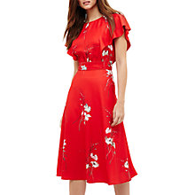 Buy Phase Eight Beatrix Floral Printed Dress, Cream/Red Online at johnlewis.com