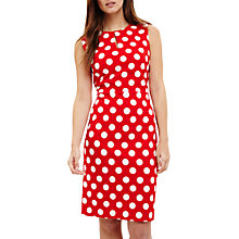 Buy Phase Eight Katlyn Keyhole Spot Dress, Red/Ivory Online at johnlewis.com