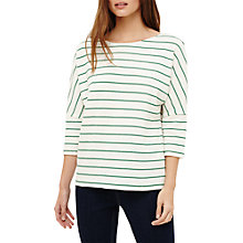 Buy Phase Eight Trish Textured Stripe Top, White Ivory/Green Online at johnlewis.com