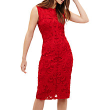 Buy Phase Eight Tanya Tapework Dress, Red Online at johnlewis.com