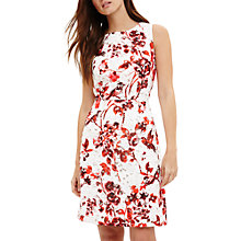 Buy Phase Eight Lolita Lace Floral Print Dress, Red Online at johnlewis.com