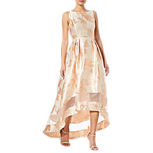Buy Adrianna Papell High Low Dress, Pale Peach Multi Online at johnlewis.com