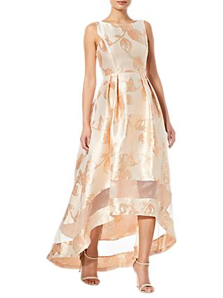 Adrianna Papell High Low Dress, Pale Peach Multi