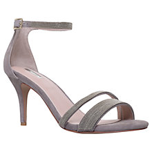 Buy Carvela Genesis Stiletto Heel Sandals, Grey Suede Online at johnlewis.com