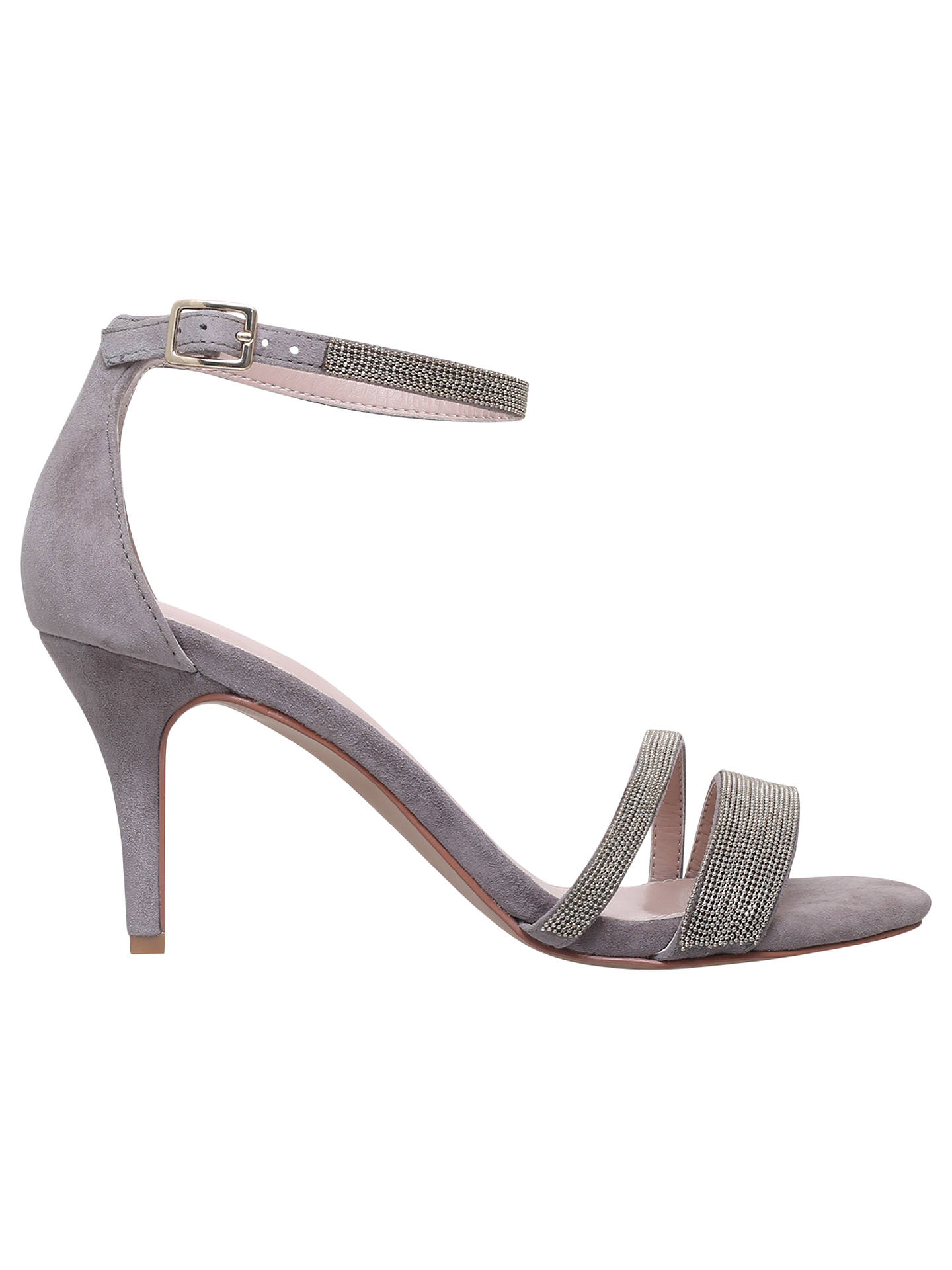 fe0e6c194 Buy Carvela Genesis Stiletto Heel Sandals, Grey Suede, 3 Online at  johnlewis.com ...