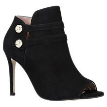 Buy Carvela Glade High Heel Open Toe Ankle Boots, Black Suede Online at johnlewis.com