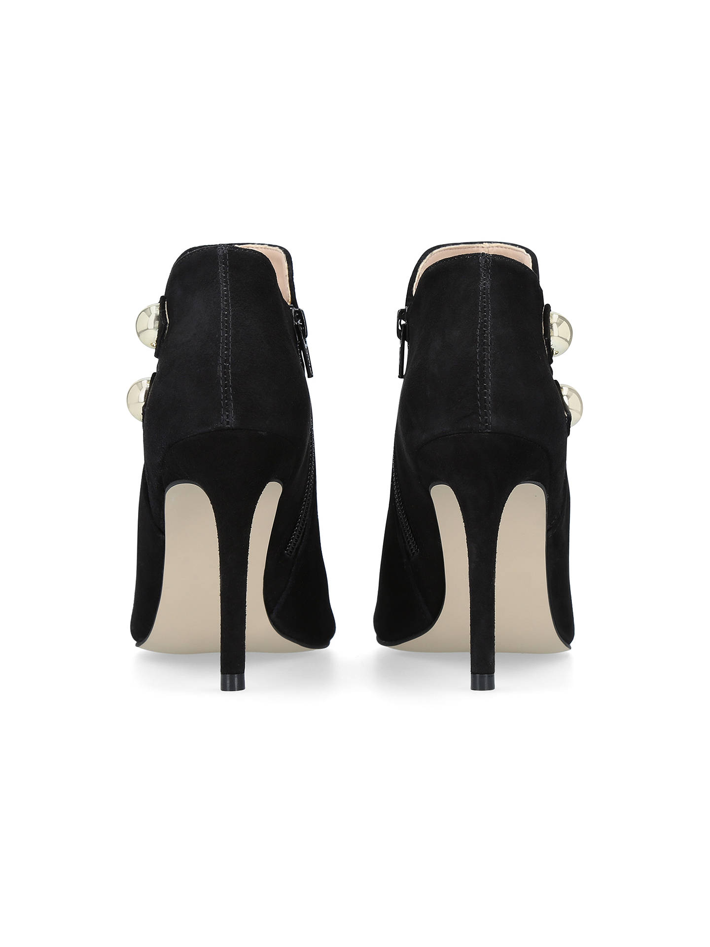 2019 original high quality guarantee famous designer brand Carvela Glade High Heel Open Toe Ankle Boots, Black Suede at ...