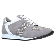 Buy Carvela Lucinda Embellished Lace-Up Trainers, Grey Online at johnlewis.com