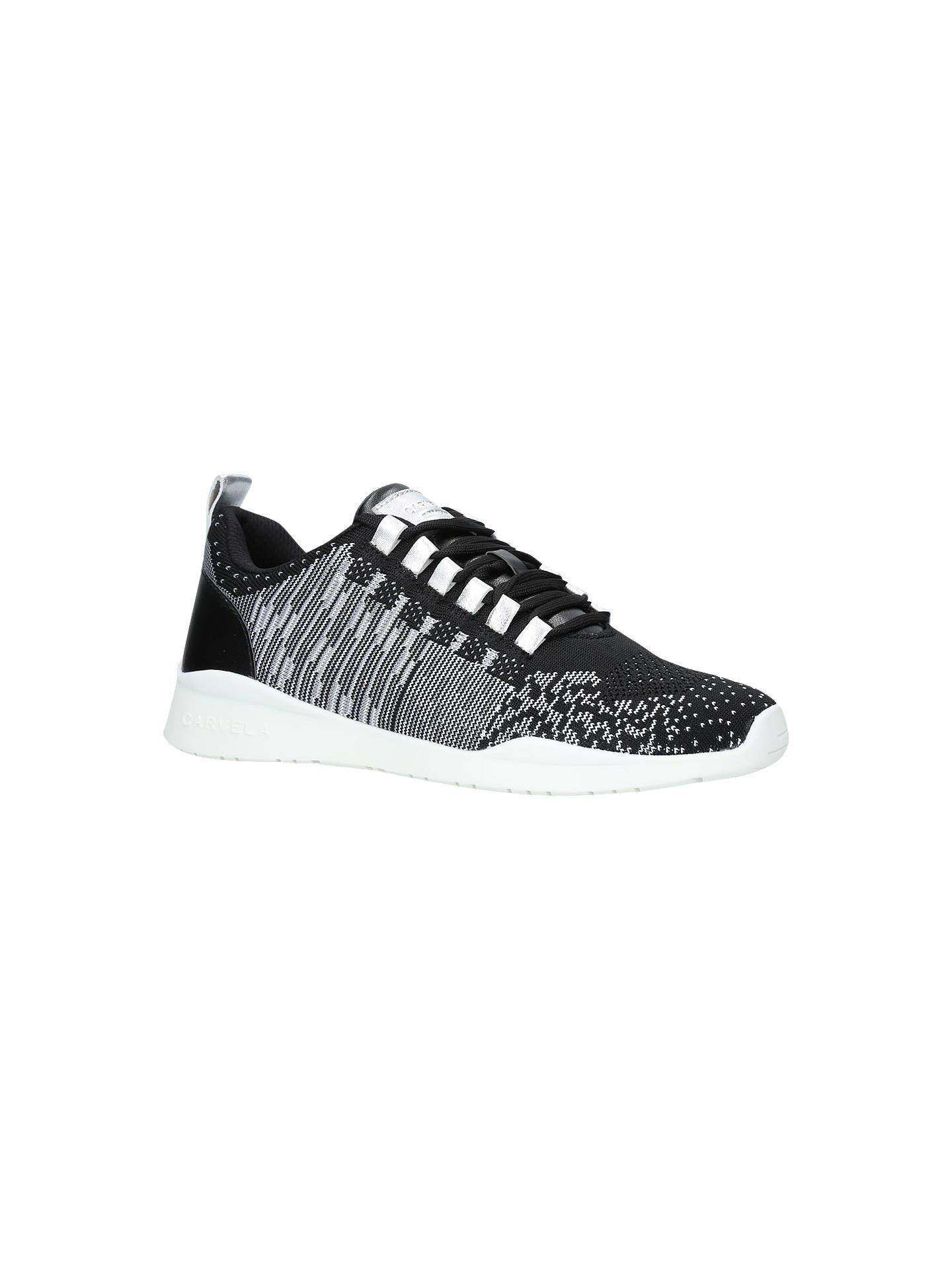 Buy Carvela Lit Lace Up Trainers, Black/White, 3 Online at johnlewis.com