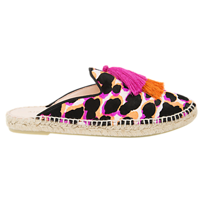 Air & Grace Souk Slipper Espadrilles, Pink/Multi Leather