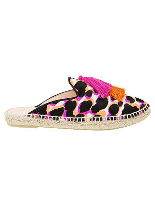 Buy Air & Grace Souk Slipper Espadrilles, Pink/Multi Leather, 4 Online at johnlewis.com