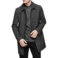 Buy Reiss Bolt Mid Length Mac, Charcoal Online at johnlewis.com