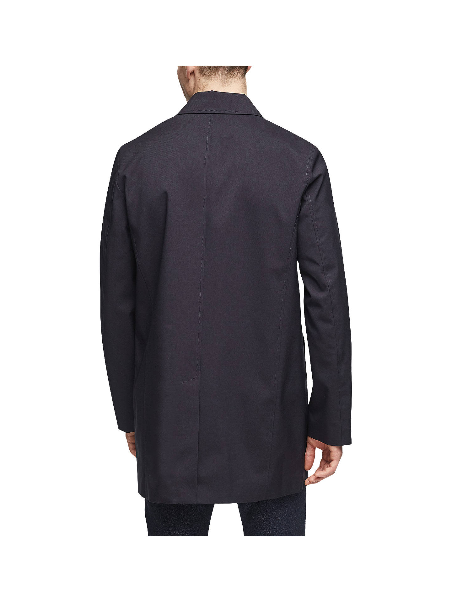 Buy Reiss Bolt Mid Length Mac, Navy, XXL Online at johnlewis.com