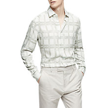 Buy Reiss Cathcart Slim Fit Check Print Shirt, White Online at johnlewis.com