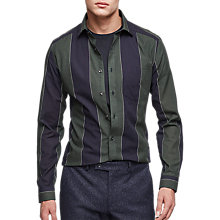 Buy Reiss Gosling Slim Fit Stripe Shirt, Green/Navy Online at johnlewis.com