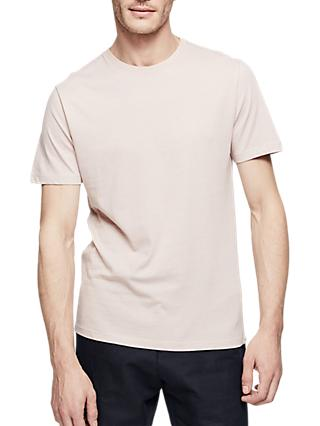 Reiss Bless Cotton Crew Neck T-Shirt, Rose Melange