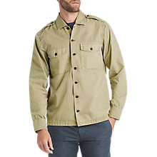 Buy BOSS Cienfuegos Long Sleeve Shirt, Medium Beige Online at johnlewis.com