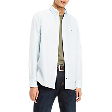Buy Tommy Hilfiger Stretch Slim Fit Stripe Shirt, Angel Blue/Bright White Online at johnlewis.com