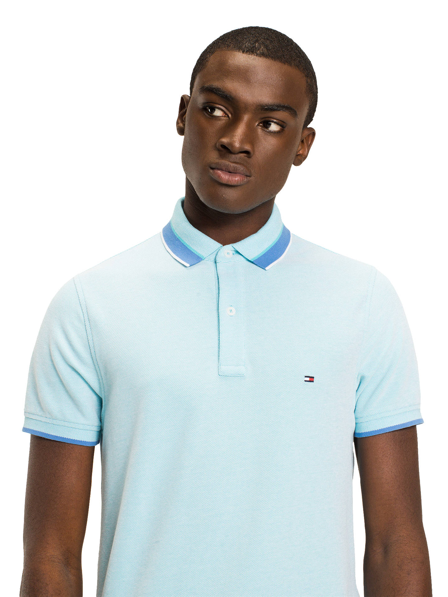 7ffbff58 Buy Tommy Hilfiger Oxford Tipped Slim Polo Shirt, Capri, S Online at  johnlewis.