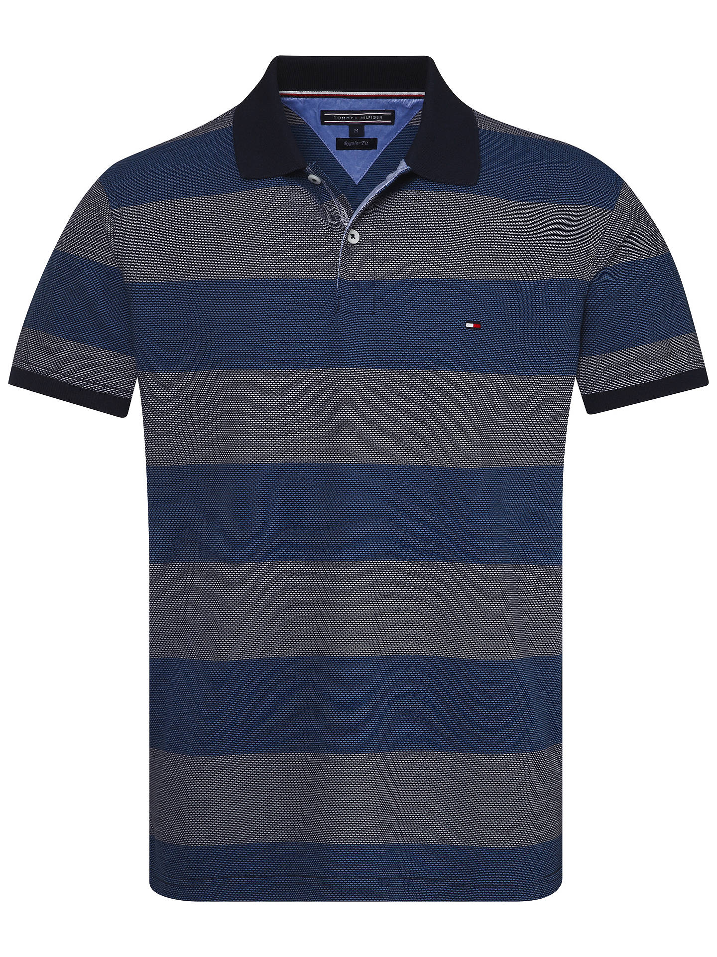 42d5500e Buy Tommy Hilfiger Jacquard Short Sleeve Polo Shirt, Navy Blazer, S Online  at johnlewis ...