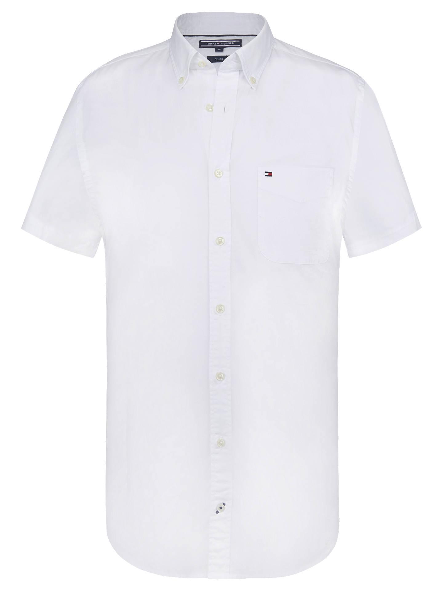 760c6c7c5 Buy Tommy Hilfiger Stretch Poplin Short Sleeve Shirt, Bright White, S  Online at johnlewis ...