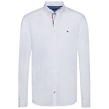 Buy Tommy Hilfiger Lightweight Cotton Poplin Shirt, Bright White Online at johnlewis.com