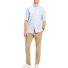 Buy Tommy Hilfiger Lightweight Cotton Poplin Shirt, Soft Blue Online at johnlewis.com