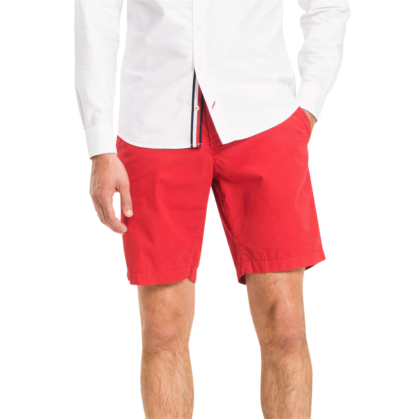 BuyTommy Hilfiger Brooklyn Shorts, Haute Red, 30R Online at johnlewis.com
