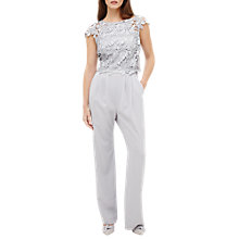 Buy Phase Eight Nieve Lace Bodice Jumpsuit, Grey Online at johnlewis.com