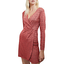 Buy French Connection Linear Jacquard V-Neck Dress Online at johnlewis.com
