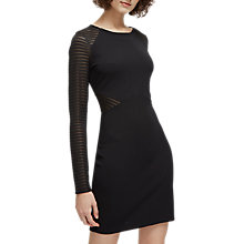 Buy French Connection Thiestis Bodycon Dress, Black Online at johnlewis.com