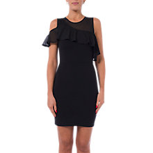 Buy French Connection Lore Lula Ponte Cut Out Shoulder Dress, Black Online at johnlewis.com