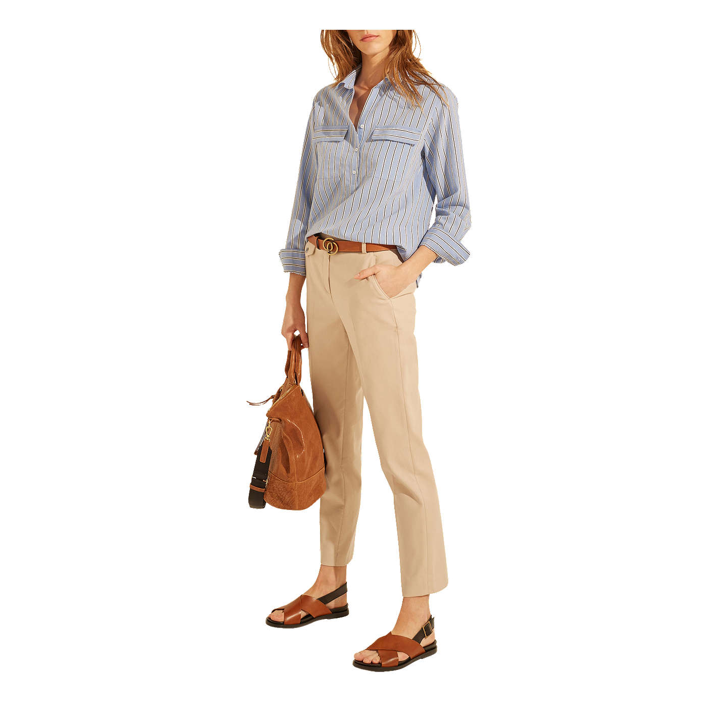 BuyGerard Darel Myrte Trousers, Beige, 8 Online at johnlewis.com