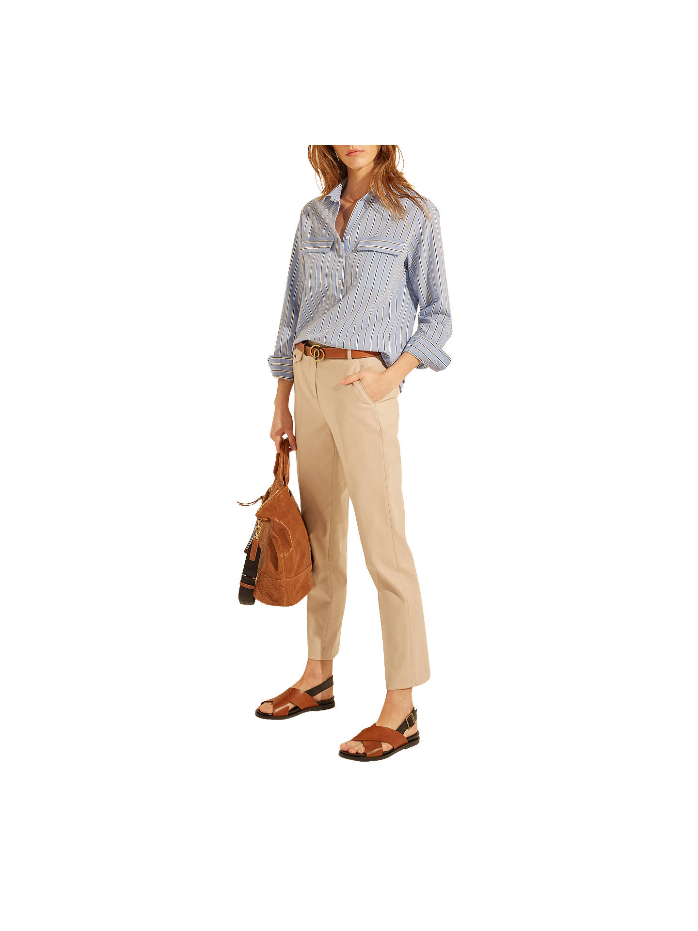 BuyGerard Darel Myrte Trousers, Beige, 6 Online at johnlewis.com