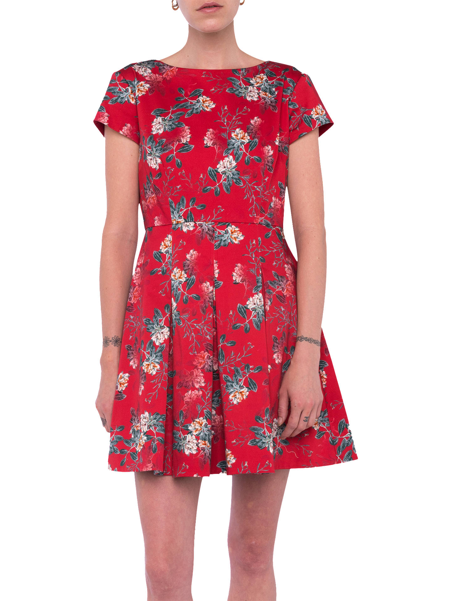 d973632b3e2 Buy French Connection Kioa Dress, Multi/Red, 6 Online at johnlewis.com